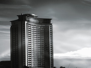 building, black, glass, commercial, architecture