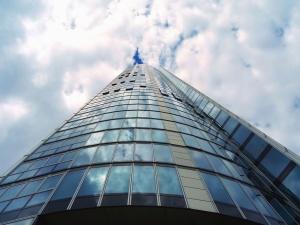 стекло, фасад, строительство, архитектура, небо, облака, дневного света