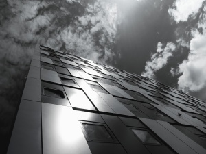 门面, 建筑, 建筑, 黑白, 门面, 天空