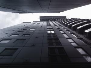 Architektura, obloha, terasa, budovy, fasády, okna