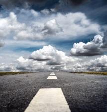 Road, asfalt, cloud, sky, landskab