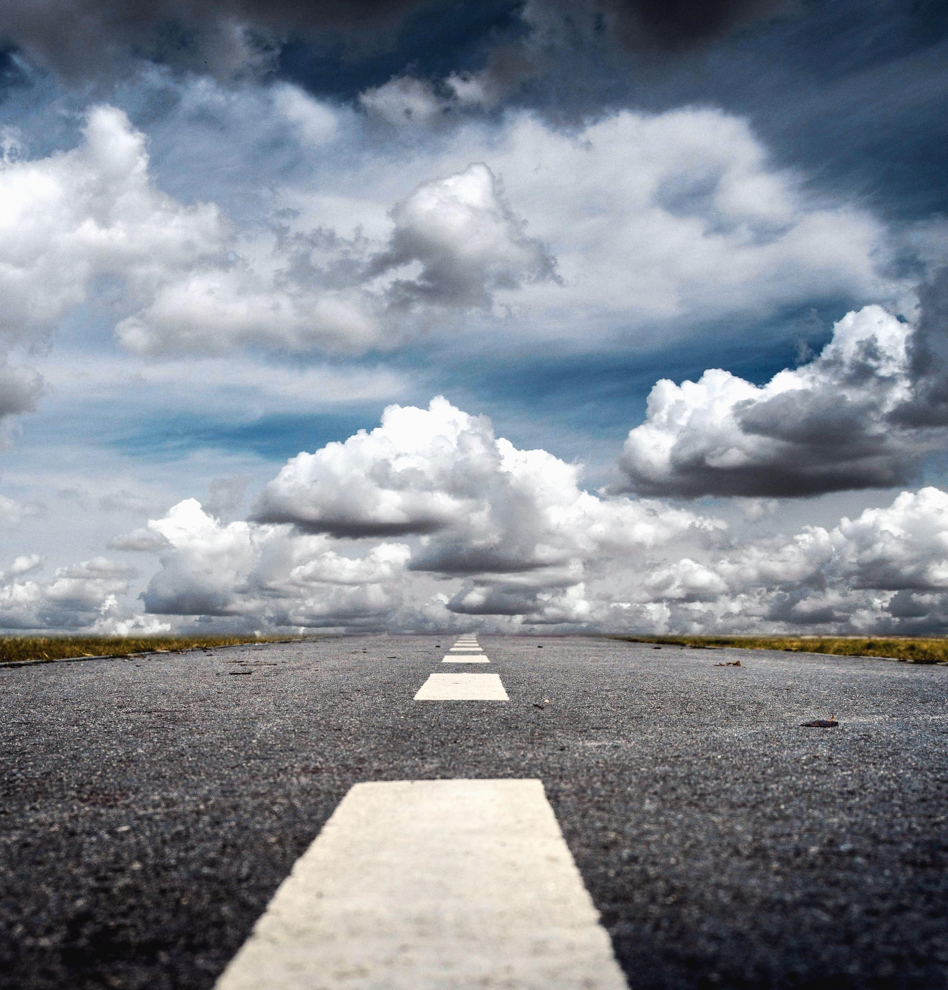 Image libre: Route, asphalte, nuage, ciel, paysage