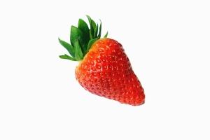 strawberry, leaf, fruit, food