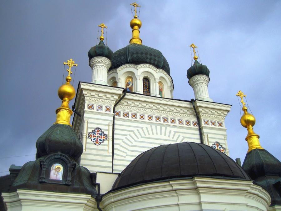 crkve, pravoslavne, kršćanstva, križ, kupola, nebo, arhitektura