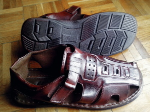 sandals, leather, footwear