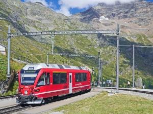 Trasporto, pista, cielo, paesaggio, treno, viaggiare, trasporto, veicolo, montagna