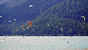 water, sea, summer, vacation, sky, travel, fun, parachute, wind