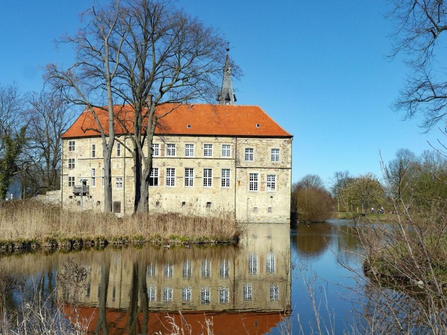 arkitektur, hus, rejser, turisme, mansion, byen, floden, vand, træ