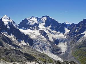 mountain, glacier, snow, landscape, mountain, valley, sky, winter, travel