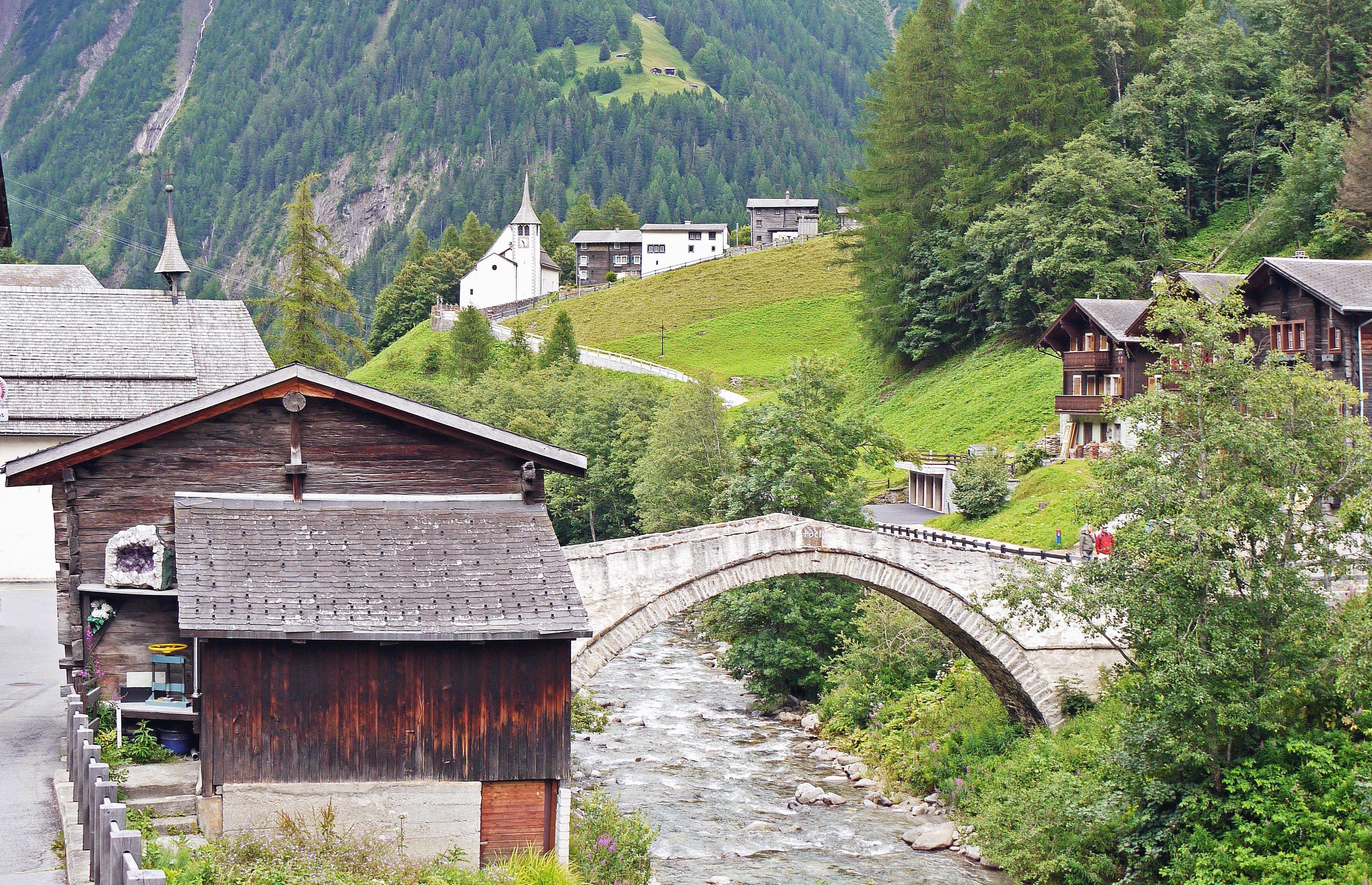 Image libre voyage pont architecture montagne rivi re tourisme eau maison arbre vacances - Vacances en montagne locati architectes ...