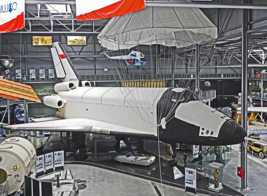 небе, самолет, космическа совалка, пространство, превозно средство, самолет, транспорт