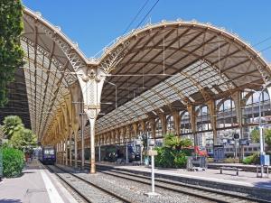 Cielo, architettura, città, viaggiare, stazione, treno, ferrovia
