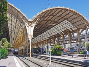 sky, architecture, city, travel, station, train, railroad