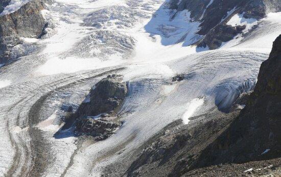 glacier, snow, ice, mountain, winter, cold, rocks