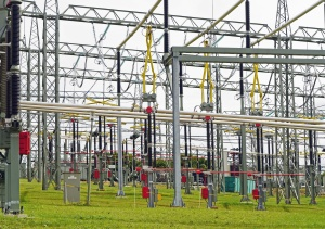 substation, electricity, high voltage, metal, wire, steel