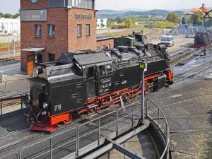 Locomotora, vapor, transporte, estación, ferrocarril, viaje, edificio