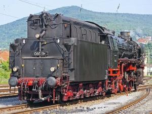 locomotief, voertuig, metaal, stoom, heuvel, reizen