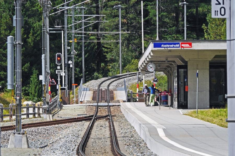 Stazione, trasporto, trasporto, treno, ferrovia, gente, foresta