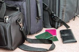 배낭, 가방, 지갑, 여권, 여행 가방, 여행