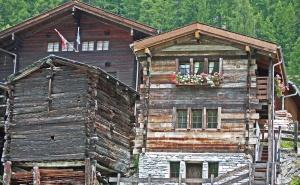 Casa, architettura, costruzione, legno, parete, foresta