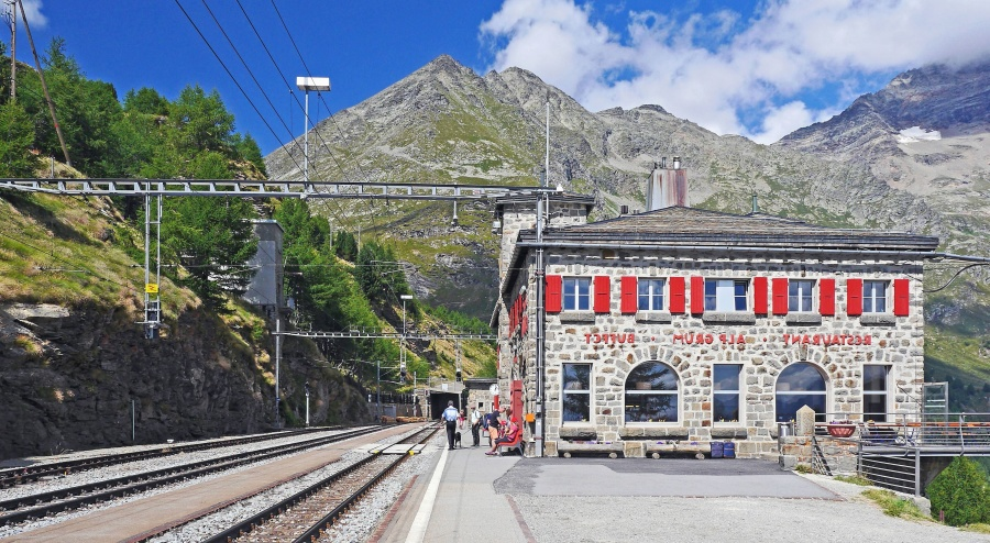 station, travel, architecture, tunnel, train, mountain, tree