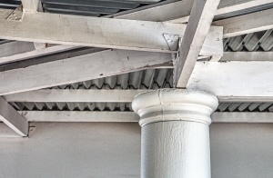 architecture, construction, pillar, beam, roof, structure