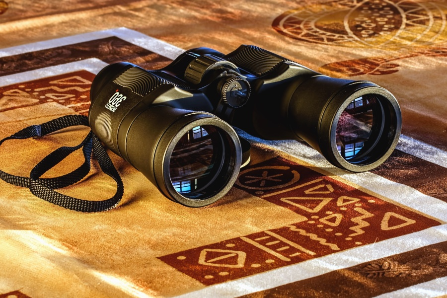binoculars, instrument, equipment, optics, reflection