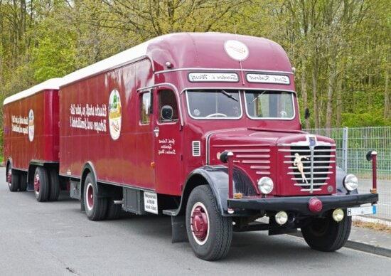 Camion, remorque, véhicule, transport, transport, route, fret