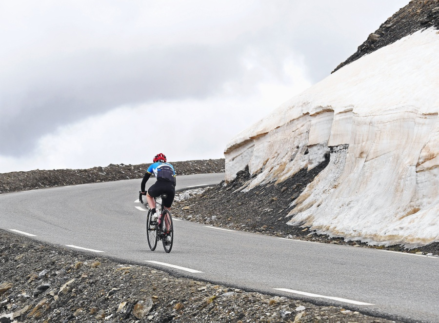 mountain, road, asphalt, cyclist, bicycle, stone, sport