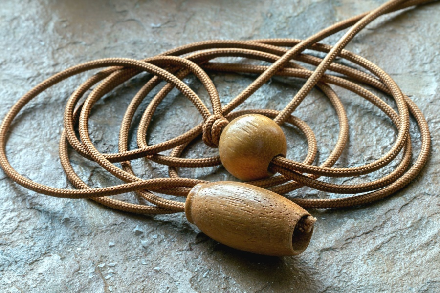 jump rope, rope, wood, sport, exercise
