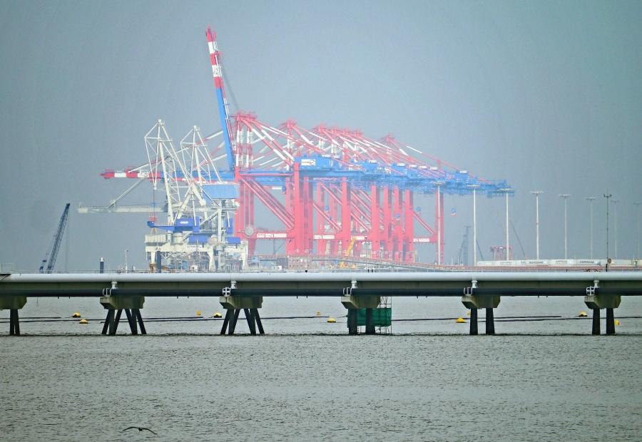 Mar, agua, pilar, construcción, tubo, metal, industria