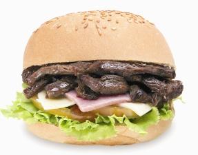 sandwich, voedsel, brood, lunch, maaltijd, vlees, kaas