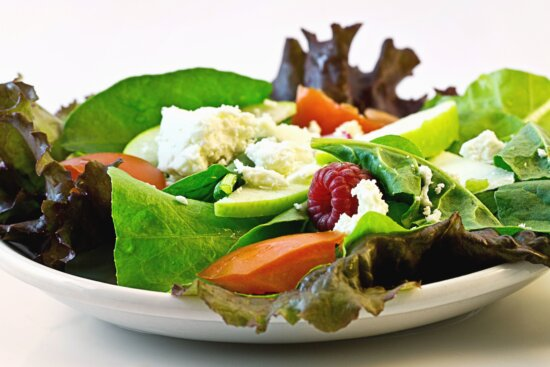 lettuce, lunch, plate, tomato, vegetable, lunch, salad