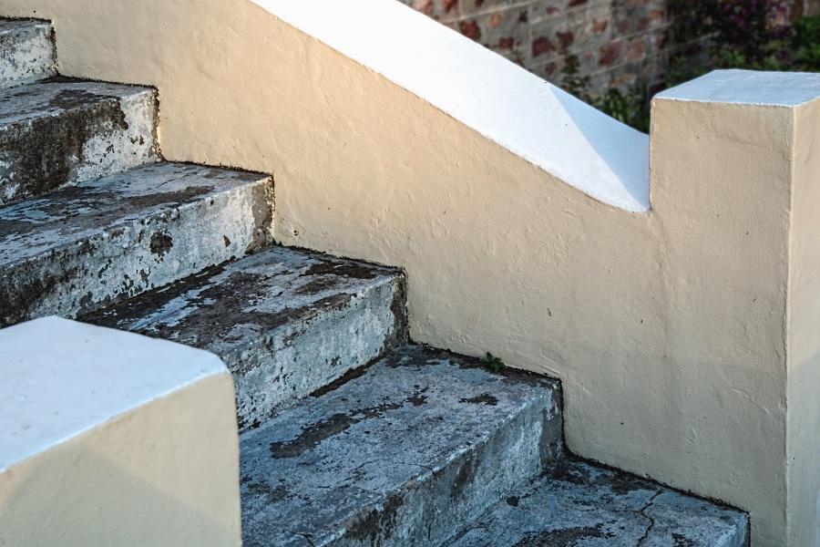 concrete, stairs, construction, architecture, texture