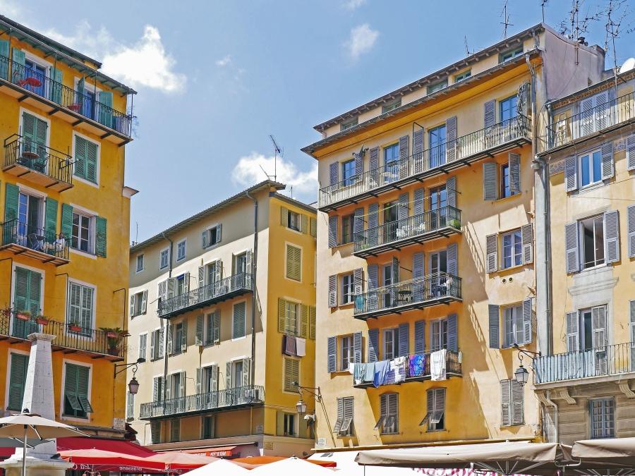 architecture, buildings, city, street, terrace, facade, window