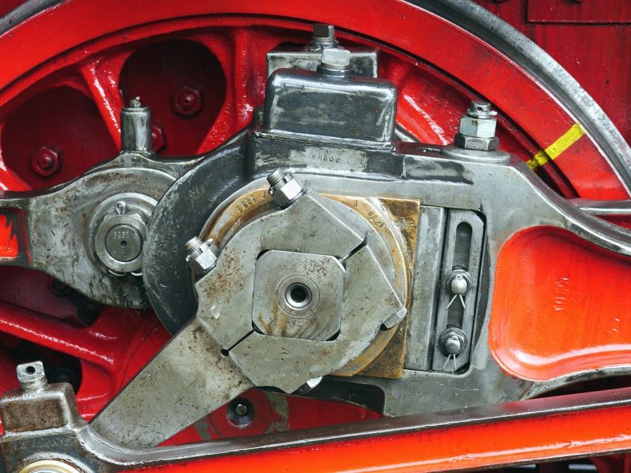 Metal, rueda, motor, transmisión, tornillo, vapor, motor
