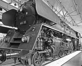 locomotive, steam engine, metal, vehicle, museum