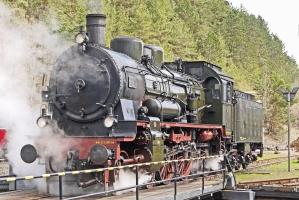 Locomotive, vapeur, fumée, métal, véhicule, chemin de fer, chemin de fer, machine à vapeur