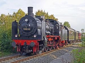 観光、蒸気機関車、客車、交通、車両、蒸気