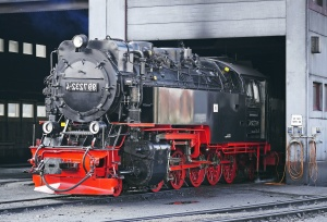 locomotive, steam engine, garage, repair, metal, railroad