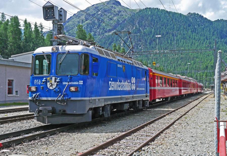 mountain, tree, locomotive, railroad, passenger, travel