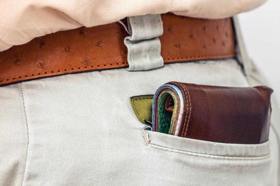 ремъка, портфейла, панталони, риза, плат, човече