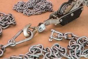 chain, metal, hook, iron, steel