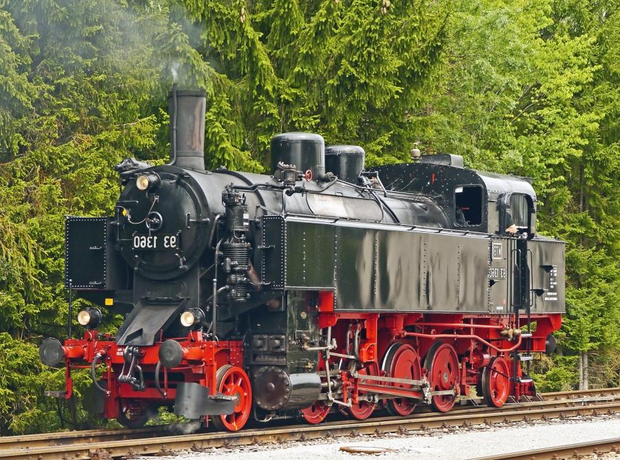 kendaraan, uap lokomotif, bersejarah, asap, logam, kayu, kereta api