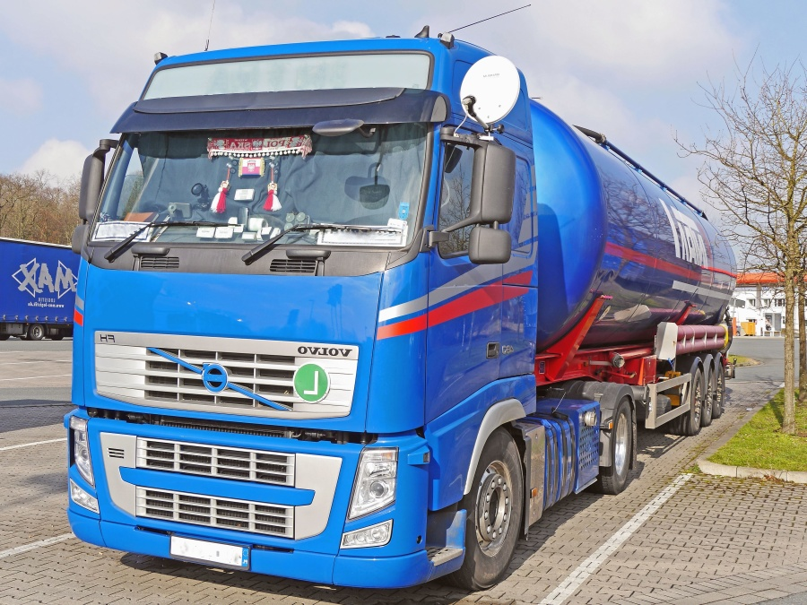 trailer, truck, vehicle, transport, road, cargo, delivery, highway, tank