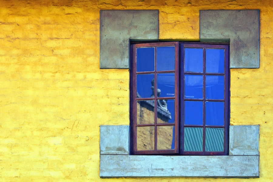 window, house, wall, art, paint, facade