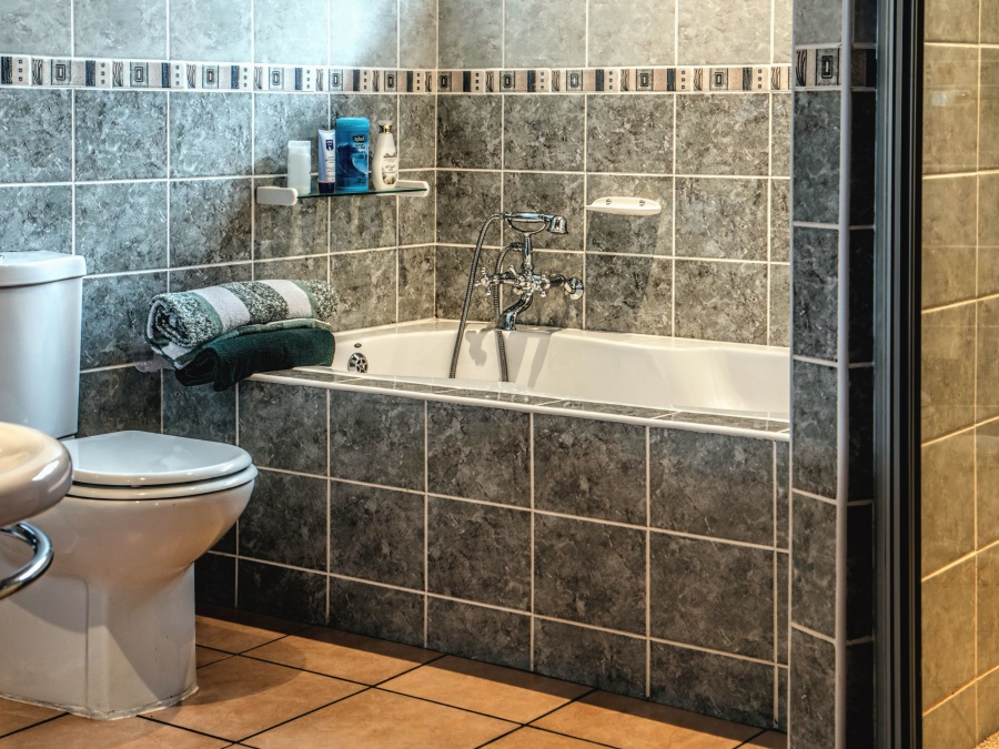 bathroom, bath, ceramic, tiles, towel, tap