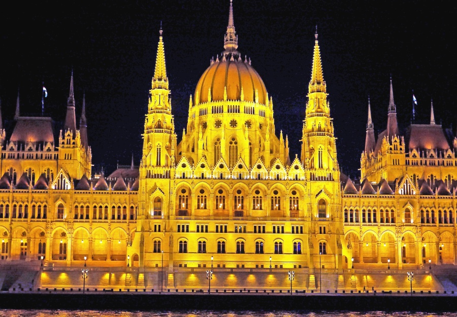dome, architecture, landmark, historic, city, light, facade