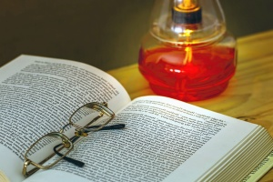 book, eyeglasses, reading, lamp, science