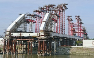 Serbia, construction, metal, bridge, coast, construction, architecture